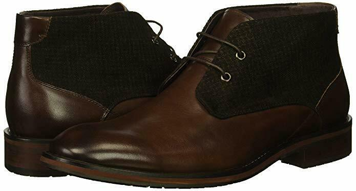 ZANZARA Men's Nebot Leather Boots, Dark Brown color - Size 11
