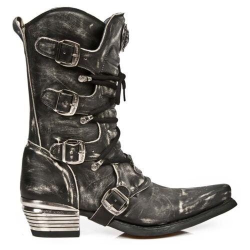 scarpe Off New gotico Black s3 di stivali 7993 Rock di motociclista pelle Rub Newrock occidentale x6qYZfBwY