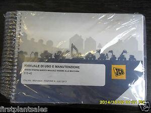 jcb italian 515 40 operators manual ebay rh ebay co uk