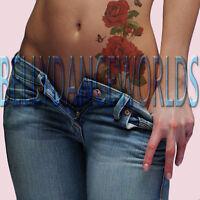 SEXY RED ROSE FLOWER SHOULDER NECK ARM LEG TEMPORARY TATTOO BODY ART STICKER NEW