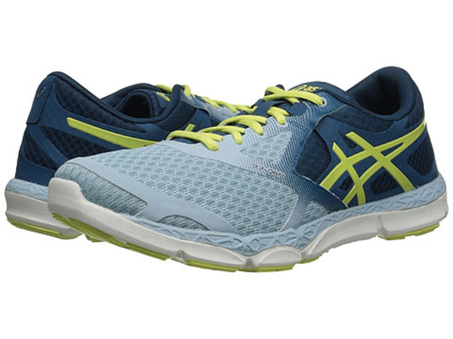 ASICS T582N.6885 33-DFA  Wmn's (M) bluee Sunny Lime Mesh Synthetic Running shoes