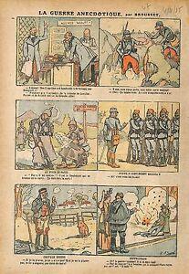 """Caricature Guerre Agence Wolff Zeppelins Poilus Mandat WWI 1915 ILLUSTRATION - France - Commentaires du vendeur : """"OCCASION"""" - France"""