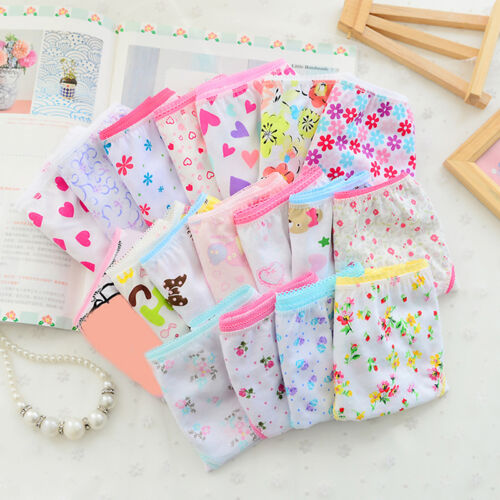 4 pcs Toddler Baby Kids Girls Underwear Cotton Panties Short Briefs Under ttoo