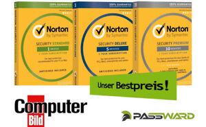 Norton Security 2018 / 2019 - 1, 3, 5 oder 10 PC / Geräte - 1, 2 oder 3 Jahre