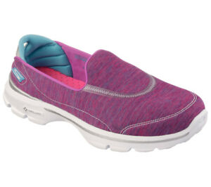 Skechers Go Walk 3 Force, Damen Sneakers, Pink (PKBL), 40 EU