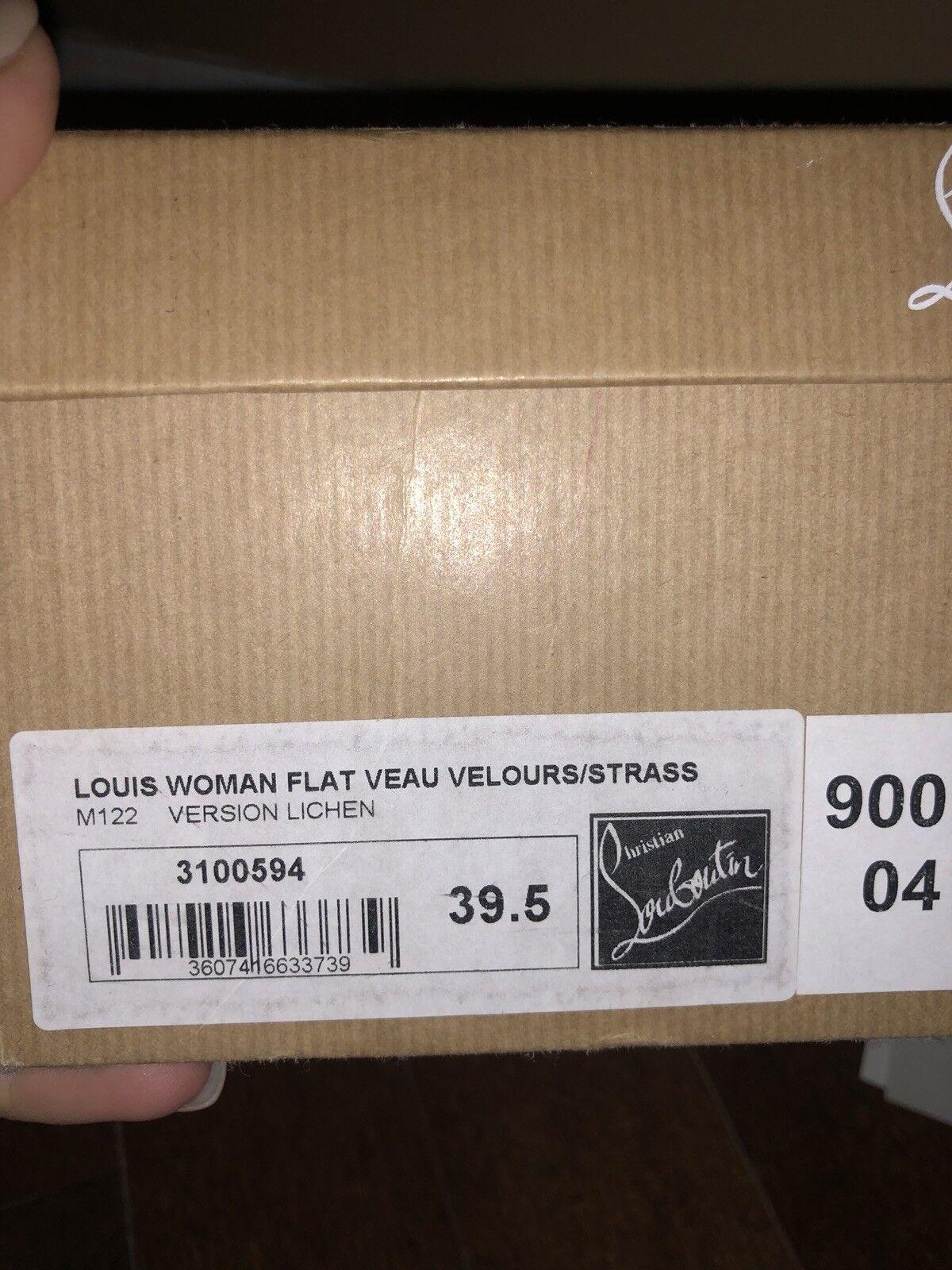 Christian Christian Christian Louboutin 39.5 Louis Flat VEAU Velours fc91ce