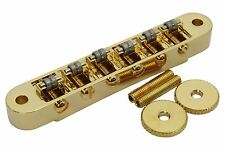 Roller Bridge Tune-o-Matic with m4 threaded posts Gibson Les Paul - Gold