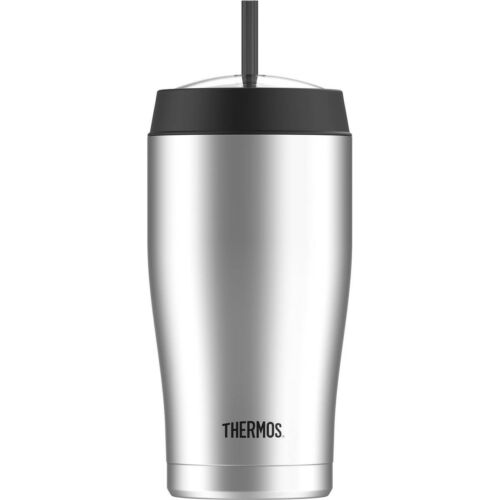 Thermos 22 oz Vacuum Insulated Stainless Steel Cold Cup with Straw