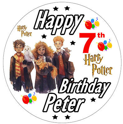 PERSONALISED BIRTHDAY BADGE HARRY POTTER NEW SIZE 77mm ANY NAME AND AGE