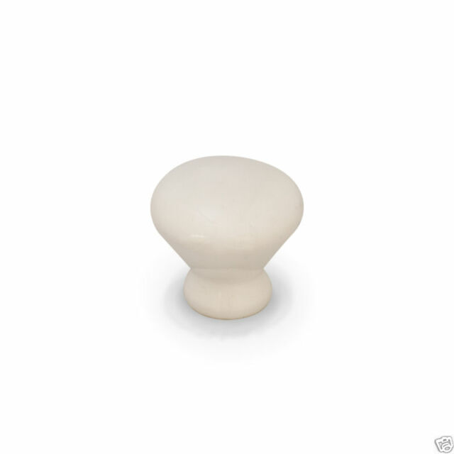Fashion Ceramic Closet Knob Handle European Drawer Cabinet White Round Pull M8D3