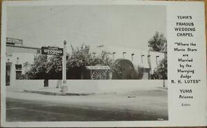 Image Is Loading Yuma AZ 1947 Realphoto Postcard Wedding Chapel Arizona