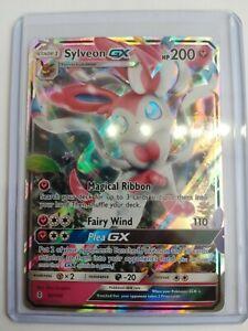 Sylveon GX 92/145 Guardians Rising Set ULTRA RARE Pokemon Card NEAR MI