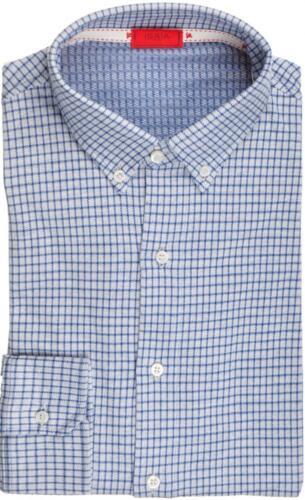 Napoli Check 06sh0280 1 495 15 Azul Isaia 39 algodón Camisa 2 mediana de vestir de Camiseta qTttOB