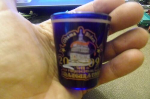 2009 President Barack Obama Inauguration Shot Glass 56th Inaugural Biden 2008