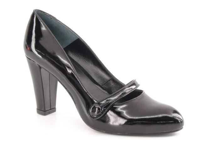 Nuevo Mujeres Negro Jessica Bennett Cuero Cuero Cuero Tacón Alto Mary Jane Zapato de vestido Talla 7 M  últimos estilos