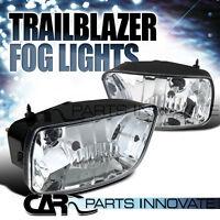 02-09 Chevy Trailblazer Clear Bumper Driving Fog Lights Left+right W/ Bulbs