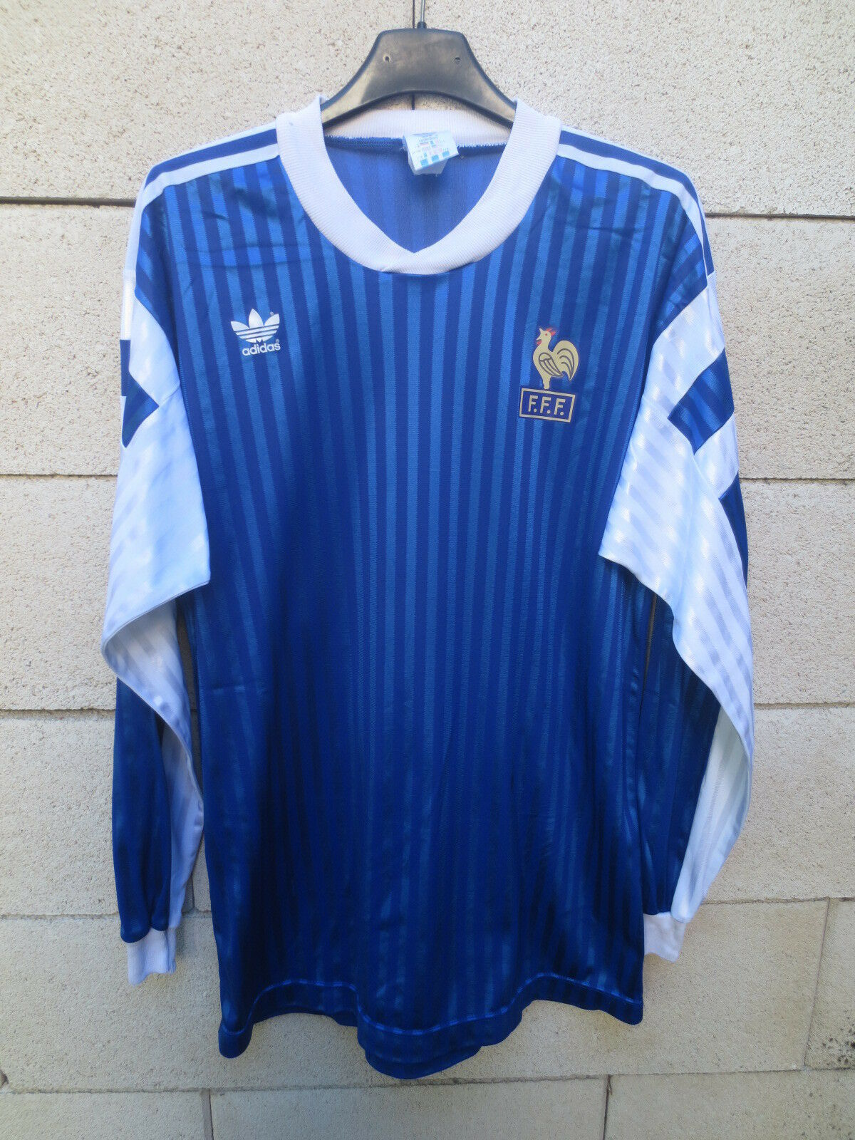 Maillot entrainement n°3 Equipe FRANCE vintage ADIDAS longues shirt 1992 manches longues ADIDAS 5126a2
