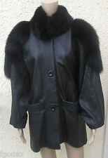 veste cuir et fourrure MADNESS taille 40/42 ANNEES 80