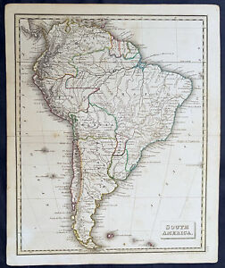 Map Of America Ebay.Details About 1835 John Russell Original Antique Map Of South America
