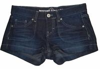 New! MOSSIMO Juniors Size Womens Denim Blue Jean Shorts Low Rise Fit 6 Dark Wash