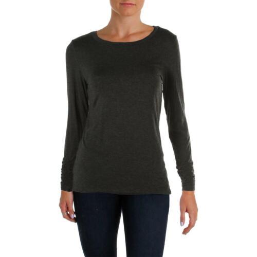 Alfani Womens Black Easy Fit Ruched Long Sleeves Top Shirt M BHFO 0425