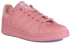 3d692538dfd7 Adidas Stan Smith Womens Pink Lace Up Trainers UK Size 3 - 8