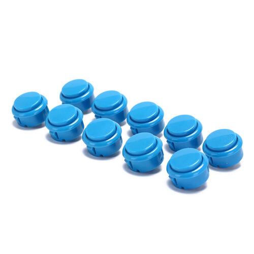 10 stücke 30mm drucktasten ersetzen für arcade button spiele teile von 7farbenZF