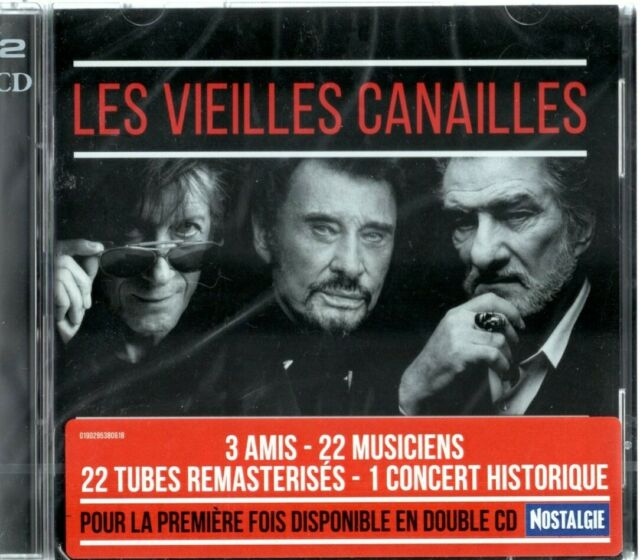 "CD NEUF ""LES VIEILLES CANAILLES Johnny HALLYDAY, Eddy MITCHELL DUTRONC"