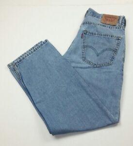 Levis-Men-039-s-32x30-Blue-Jeans-550-Relaxed-Fit-Denim-100-Cotton-Light-Wash-Worn