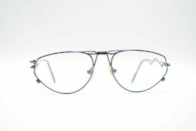 Affidabile Vintage Serge Kirch Hofer 1041 55 [] 17 145 Blu Ovale Occhiali Eyeglasses Nos- Avere Una Lunga Posizione Storica