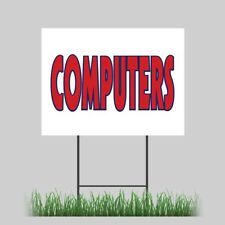 18x24 Computers Electronic Digital Pc Laptop Here Yard Sign Outdoor Coroplast