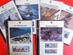 Aussuchen-aus-WWF-Briefmarken-FDC-Maximumkarten-1983-1990-vollstaendige-Serien