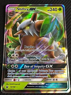 NM Shiftry GX 14//168 Celestial Storm Ultra Rare Pokemon Card