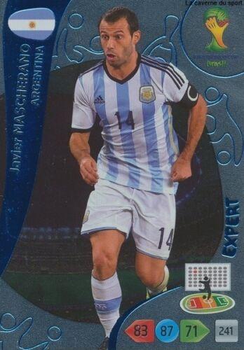 N°379 MASCHERANO EXPERT # ARGENTINA PANINI CARD ADRENALYN WORLD CUP BRAZIL 2014