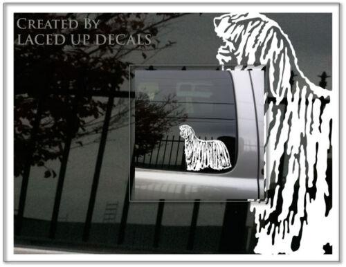 Komondor Dog vinyl decal livestock guardian dog Best in show puppy sm