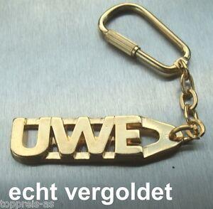 Büro & Schreibwaren Edler SchlÜsselanhÄnger Uwe Vergoldet Gold Name Keychain Weihnachtsgeschenk Kataloge Werden Auf Anfrage Verschickt Schlüsselanhänger