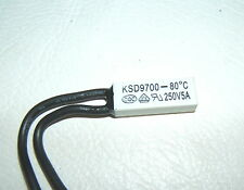 KSD9700 250V 5A 80°C WHITE THERMOSTATIC TEMPERATURE SWITCH NC NORMALLY CLOSED ON