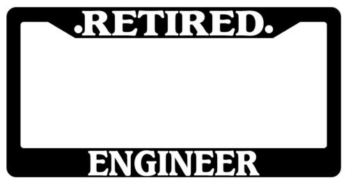 Black License Plate Frame Retired Engineer Auto Accessory Novelty