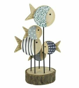 Wooden fish On A Stand Joe Shoeless ornament.Wooden ornament.