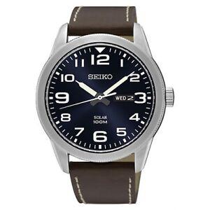 Armbanduhren Seiko Herren Exklusiv Solar Betrieben Uhr Sne475p1-new Neue Sorten Werden Nacheinander Vorgestellt