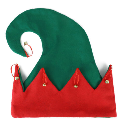 Free Shipping Christmas Santa/'s Helper Green Elf Hat with Bells