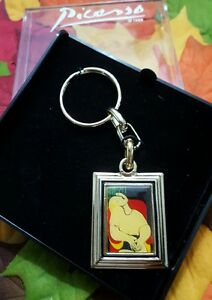 VINTAGE PICASSO KEY RING IN PLASTIC CASE