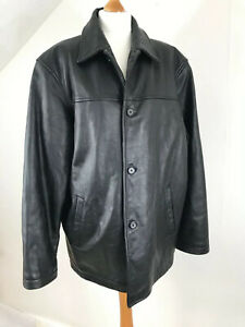 MENS QUILTED BUTTON UP BLACK JACKET WITH CHORD SHOULDERS AND COLLAR S M L XL