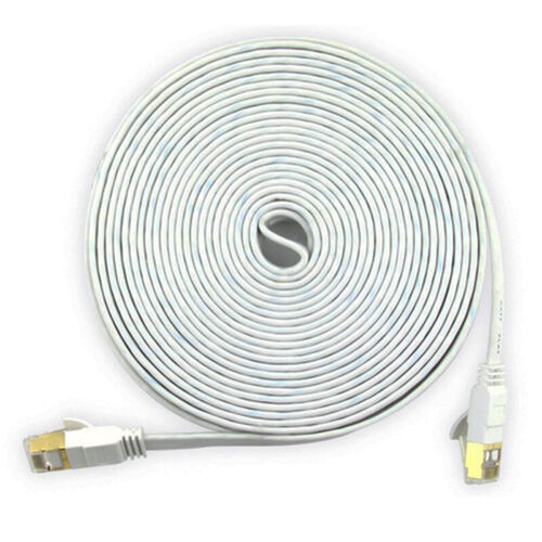 Network Cat7 Ethernets Cable Gold Ultra-thin FLAT 10Gbps SSTP LAN Leads Lot OF