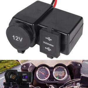 Waterproof-Motorcycle-Dual-USB-Charger-Cigarette-Lighter-Socket-Motorbike-12V