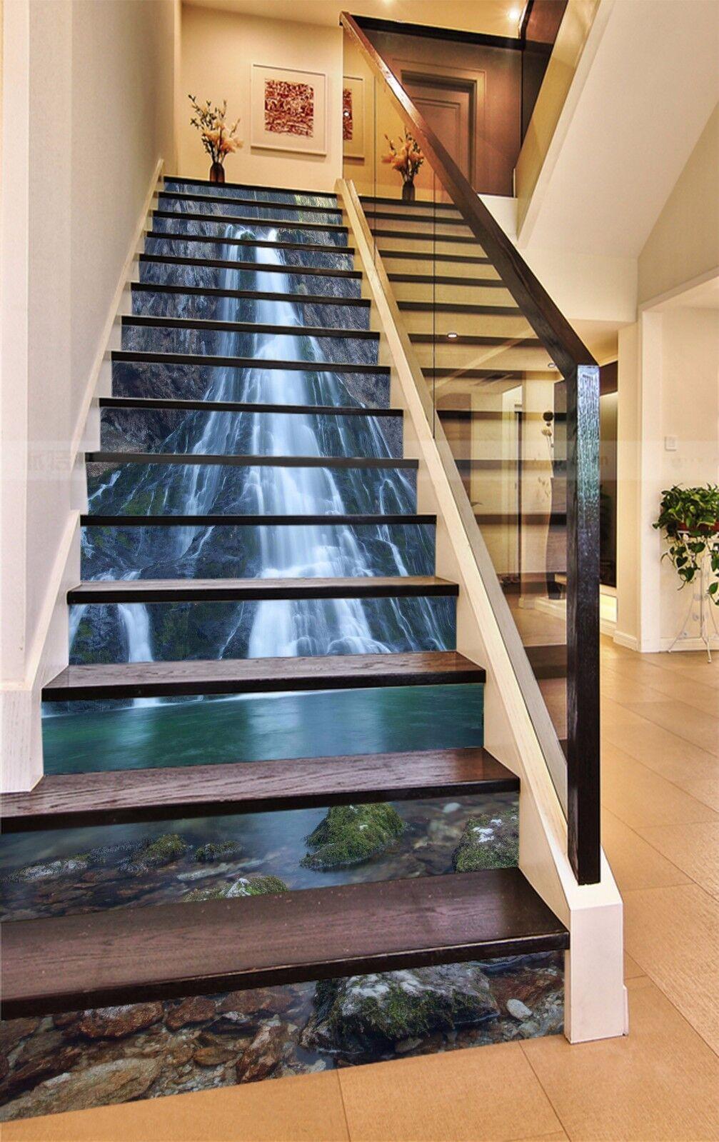 3D Falls River 7753 Stair Risers Decoration Photo Mural Vinyl Decal Wallpaper AU
