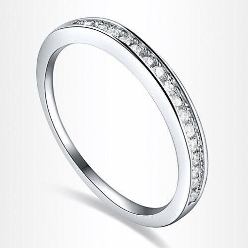 Sz 5-11 Shining Jewelry Lady White Sapphire 925 Silver Band Wedding Eternal Ring