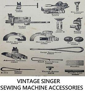 Original Vintage Singer Sewing Machine Accessories and Feet