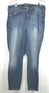 Torrid Womens Denim High Rise Curvy Skinny Denim Jeans Button Front Zip Fly 14R