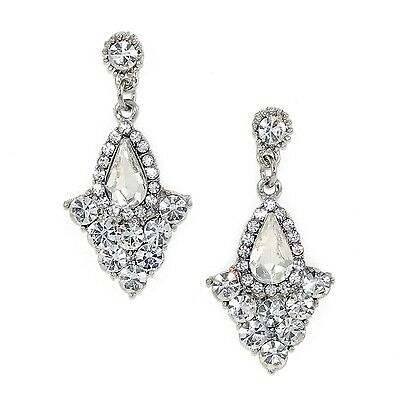 Kristin Perry Art Deco 1920's Great Gatsby Inspired Crystal Chandelier Earrings